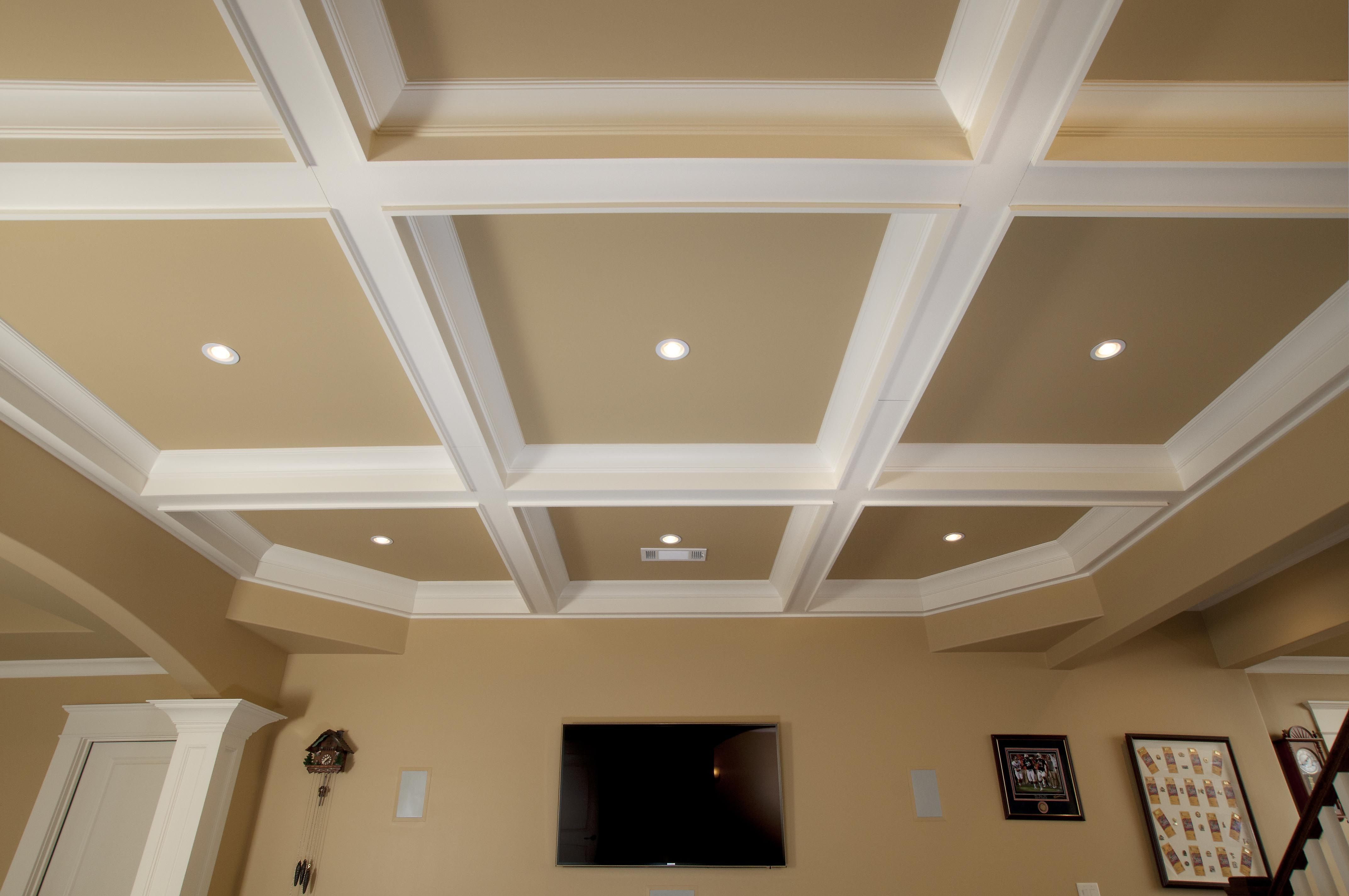 Painting rooms with high ceilings decor tips beautiful coffered ceilings spice up your room enchanting