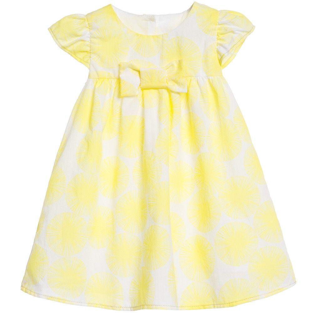 Baby Girls Yellow Cotton 'Lemon Tree' Dress | Trees, The o'jays ...