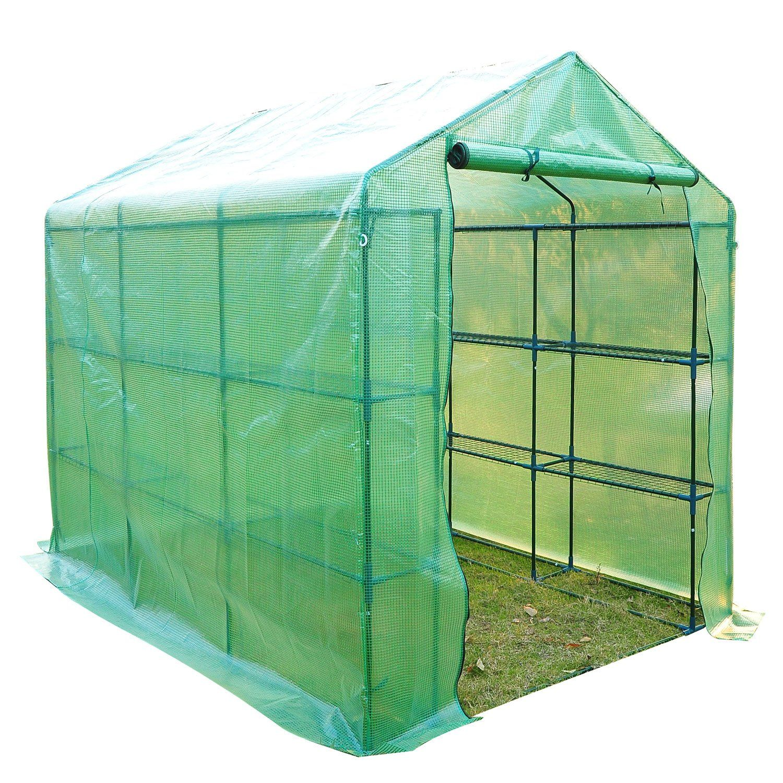 amazoncom outsunny 8u0027 x 6u0027 x 7u0027 outdoor portable large warps jc1020 10u0027 x 20u0027 clear jiffy cover heavy duty plastic drop
