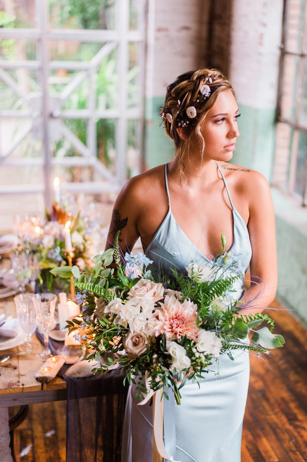 Ocean inspired u industrial wedding ideas wedding bouquets
