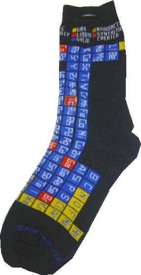 c9e21b70a381 Periodic Table Socks | Elements | Socks, Funky socks, Clothes