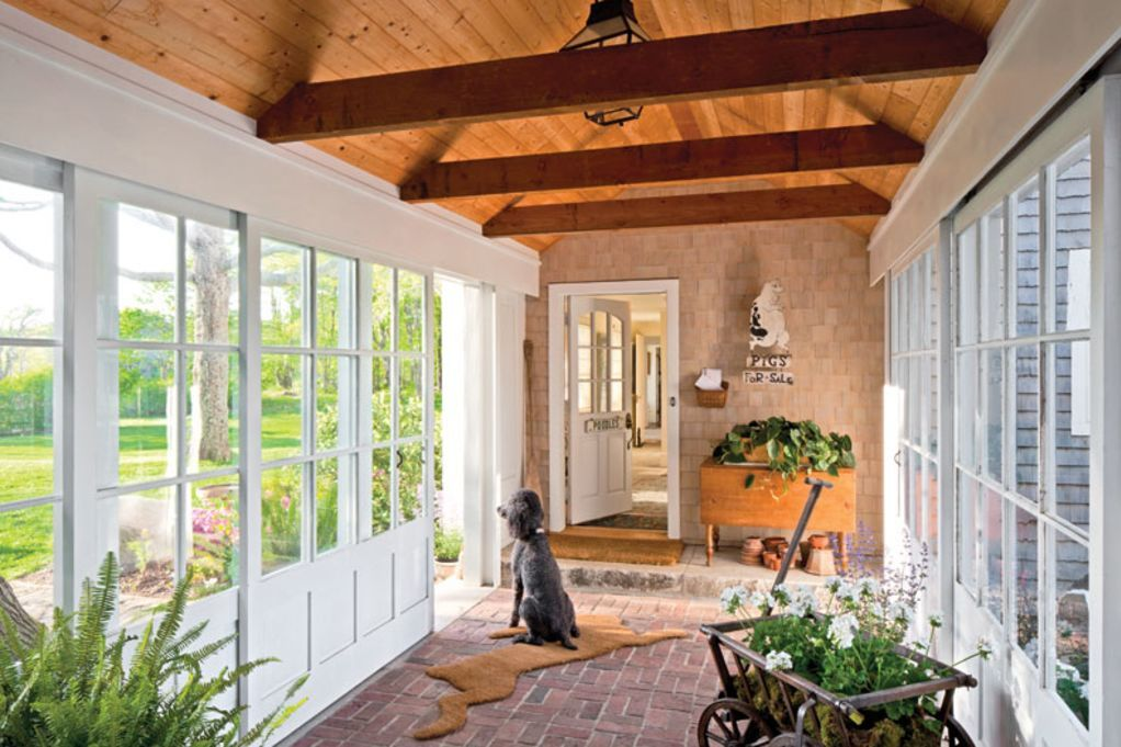 Preserving a summer home in maine breezeway glass for House plans with garage attached by breezeway
