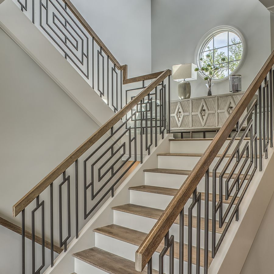 Wrought Iron Staircase: A Kingswood Custom - Grande Custom Stairwell