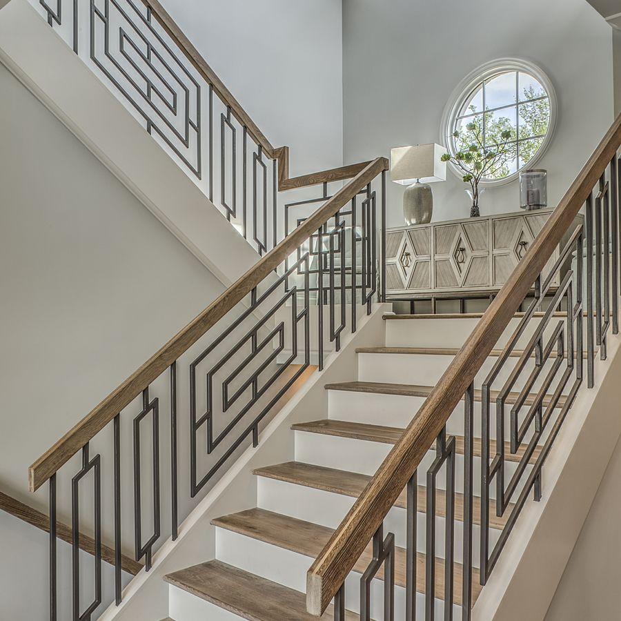 Best A Kingswood Custom Grande Custom Stairwell Modern Stair Railing Railing Design Stairway Design 400 x 300