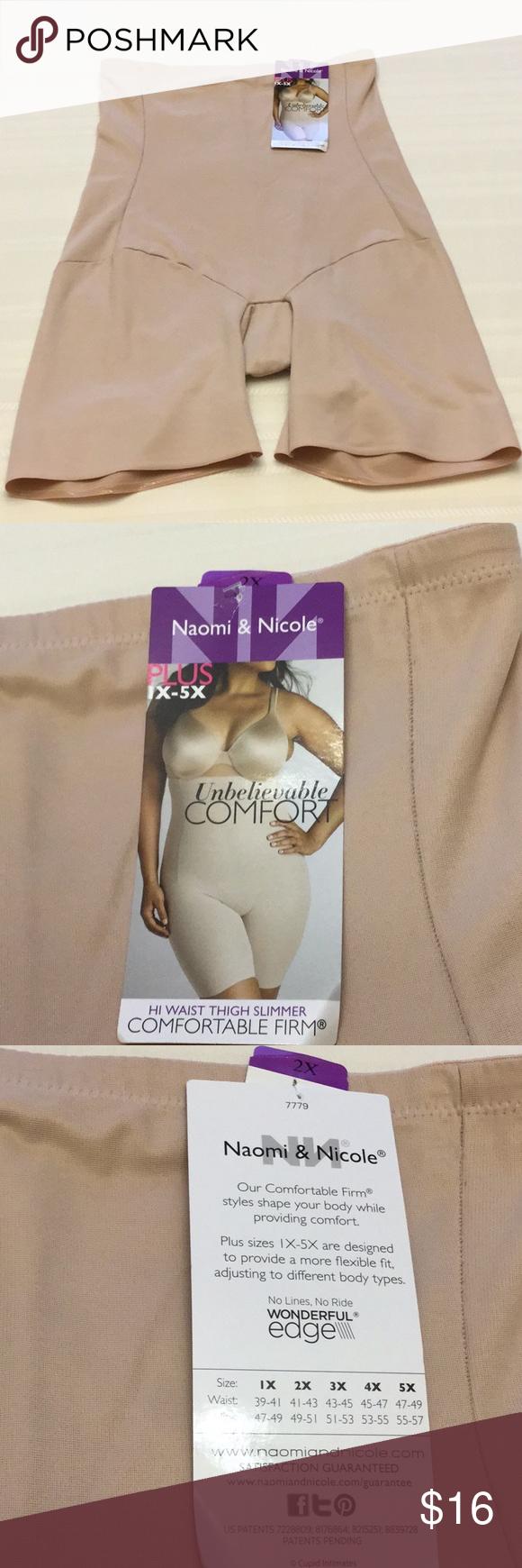 fa8705a1c958c Naomi   Nicole Comfort Firm Hi-Waist Thigh Slimmer Naomi   Nicole Plus  Unbelievable Comfort