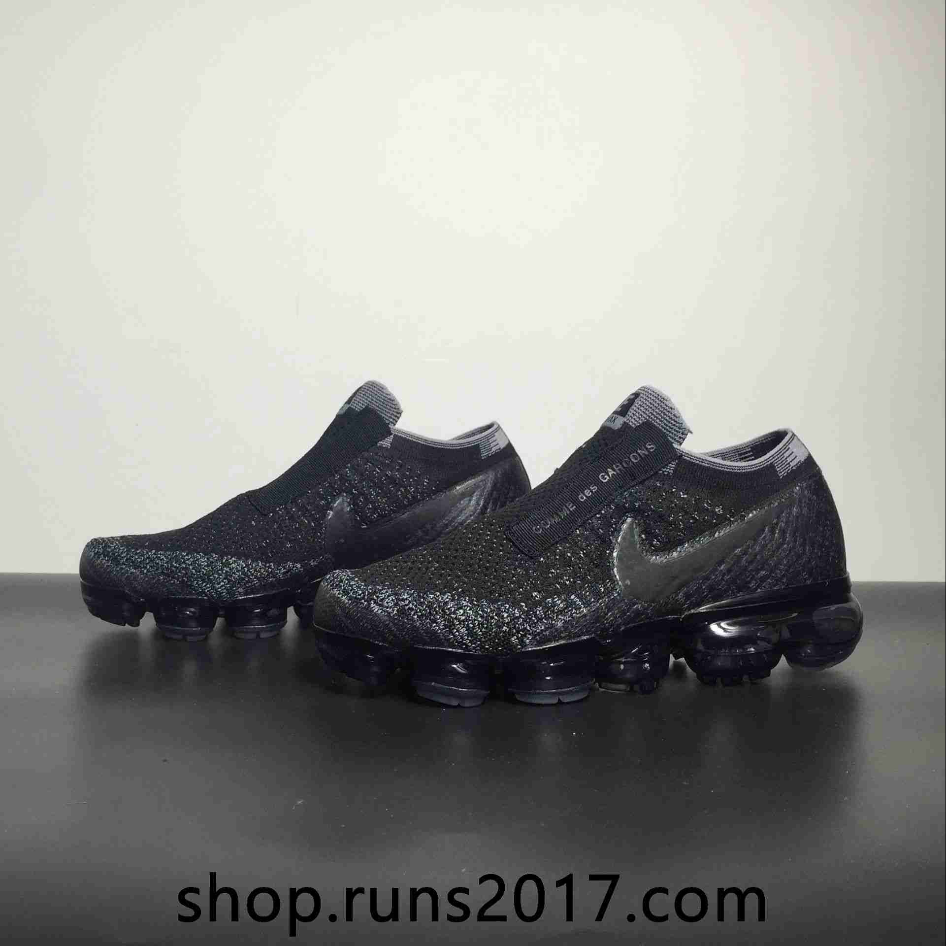 66df14b88e3d Nike Air VaporMax 2018 Flyknit Black Gray Women Men Shoes