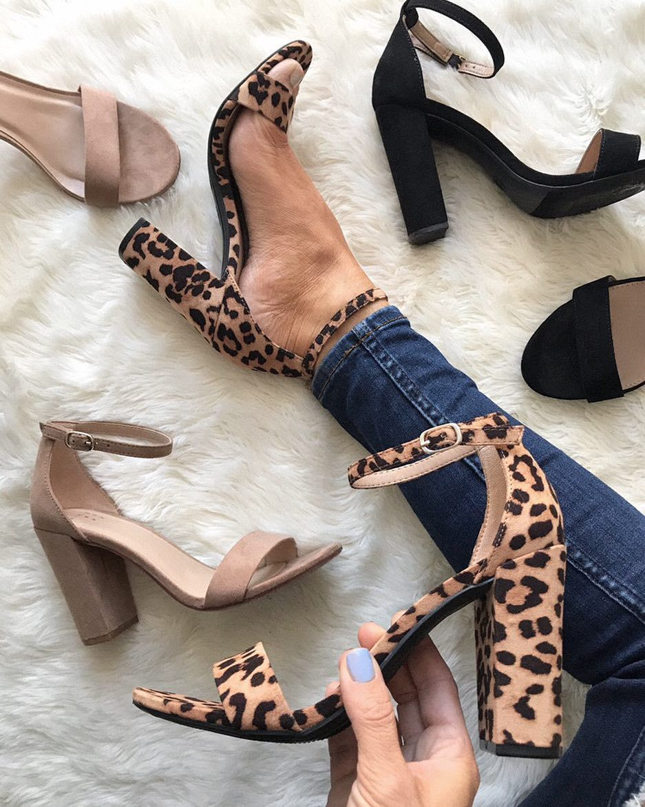 4b5db93239 Women's Ema High Block Heeled Pumps - A New Day. Available in leopard, nude  or black. #shoes #trending #heel #ad #fashion #target