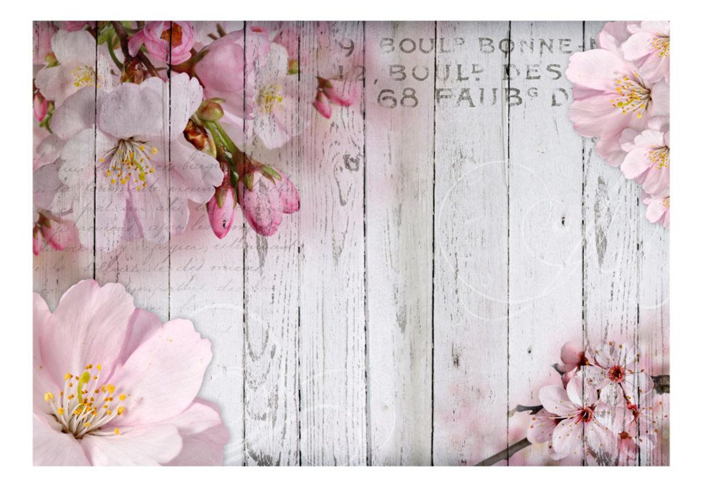vlies tapete top fototapete wandbilder xxl 350x245 cm holz bretter blumen b a 0202 a b. Black Bedroom Furniture Sets. Home Design Ideas