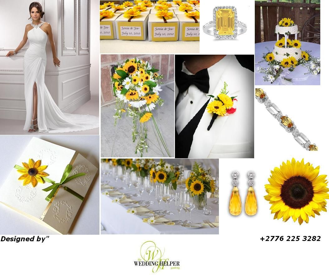 Some summer Sunflower inspiration. Wedding helpers