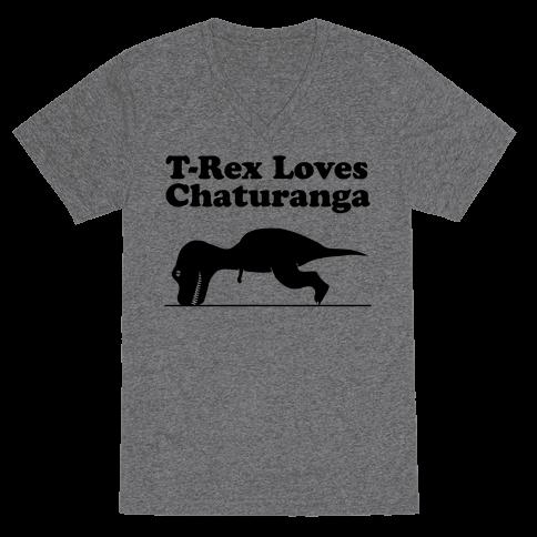 T-Rex Loves Chaturanga Tee