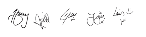 One Direction Signatures One Direction Lyrics One Direction Zayn Malik I Love One Direction