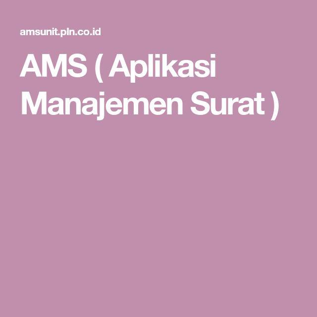 Ams Aplikasi Manajemen Surat Lemari Dinding Huruf