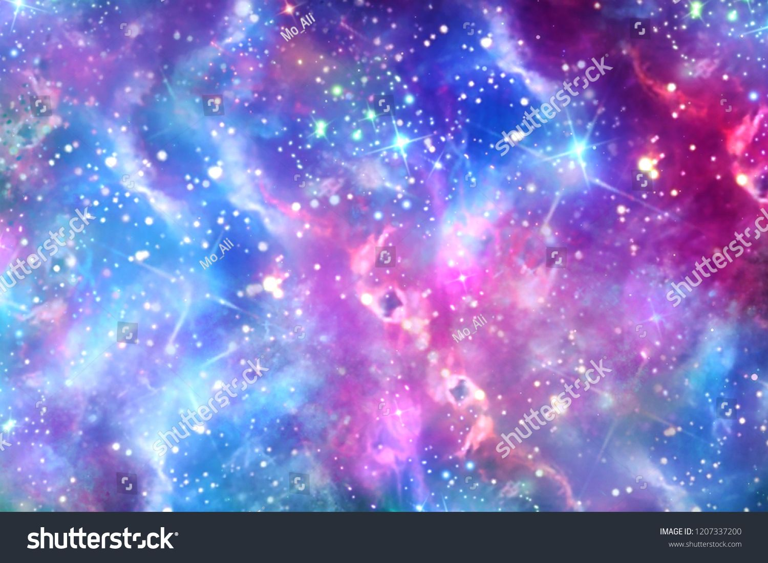 Abstract Colorful Galaxy With Bright Stars Backgroundgalaxy Colorful Abstract Background Space Backgrounds Abstract Star Background