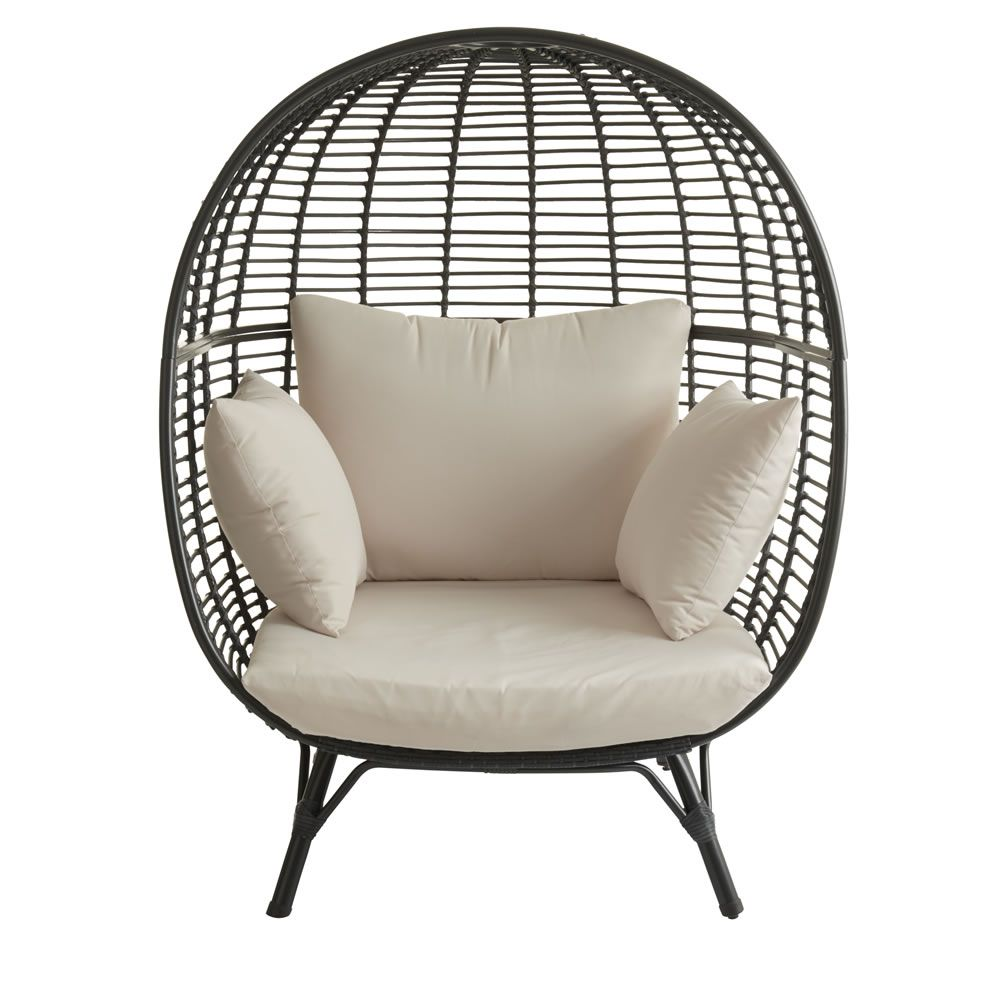 Astounding Garden Snuggle Egg Chair Rattan Effect Rattan Egg Chair Squirreltailoven Fun Painted Chair Ideas Images Squirreltailovenorg