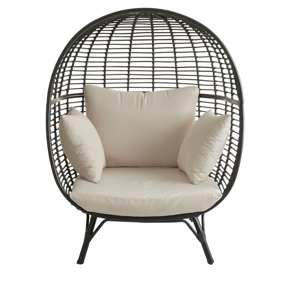 Garden Snuggle Egg Chair Rattan Effect