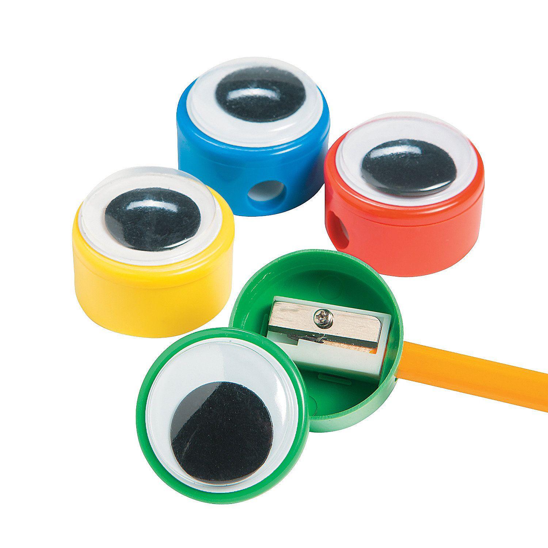 Giant Wiggle Eye Pencil Sharpeners  Orientaltradingcom $6 Per Dozen