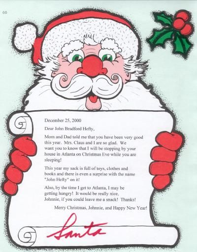 personalized letter from santa christmas pinterest santa