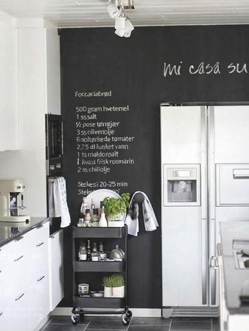 5 espacios donde incluir paredes de pizarra - Pared De Pizarra
