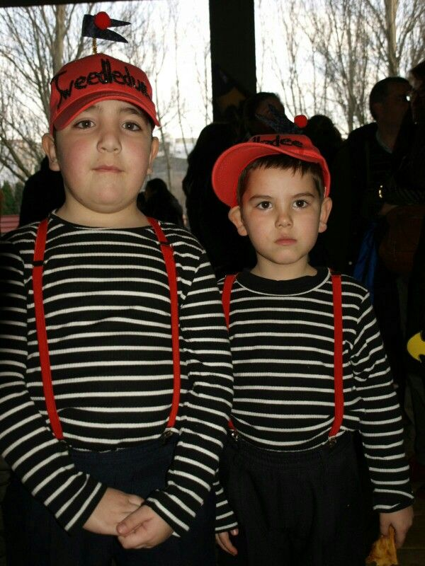 Tweedledum tweedledee alice in wonderland disfraces - Disfraces para gemelos ...