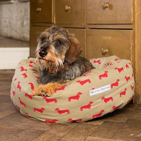 Dachshund Chic Donut Dog Bed Dachshund Bed Dog Bed Luxury Dog Bed