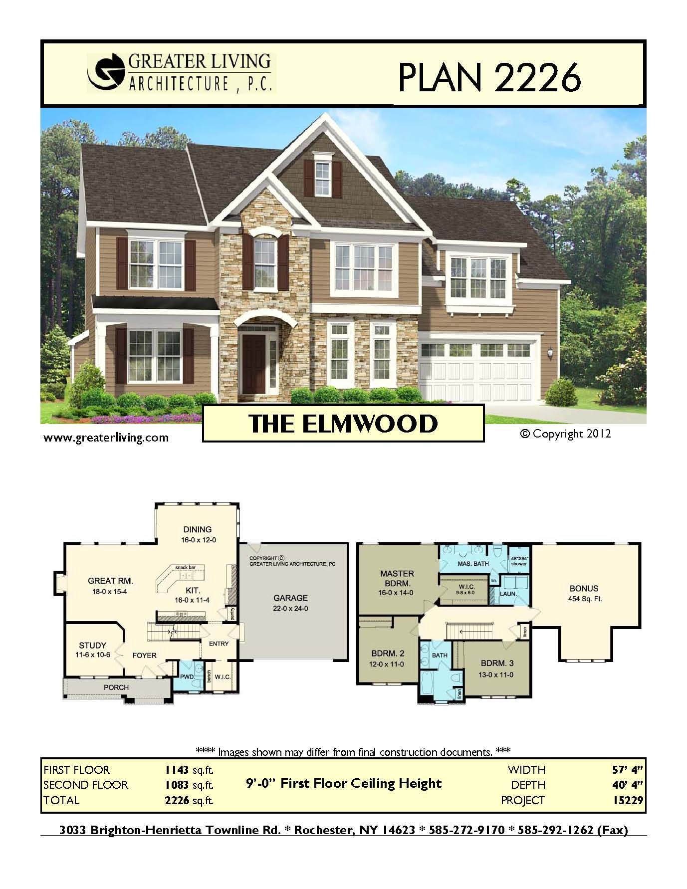 Plan 2226 THE ELMWOOD Two story home plans