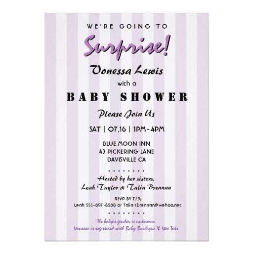 Surprise Baby Shower Gender Neutral Invitation Multiples Baby