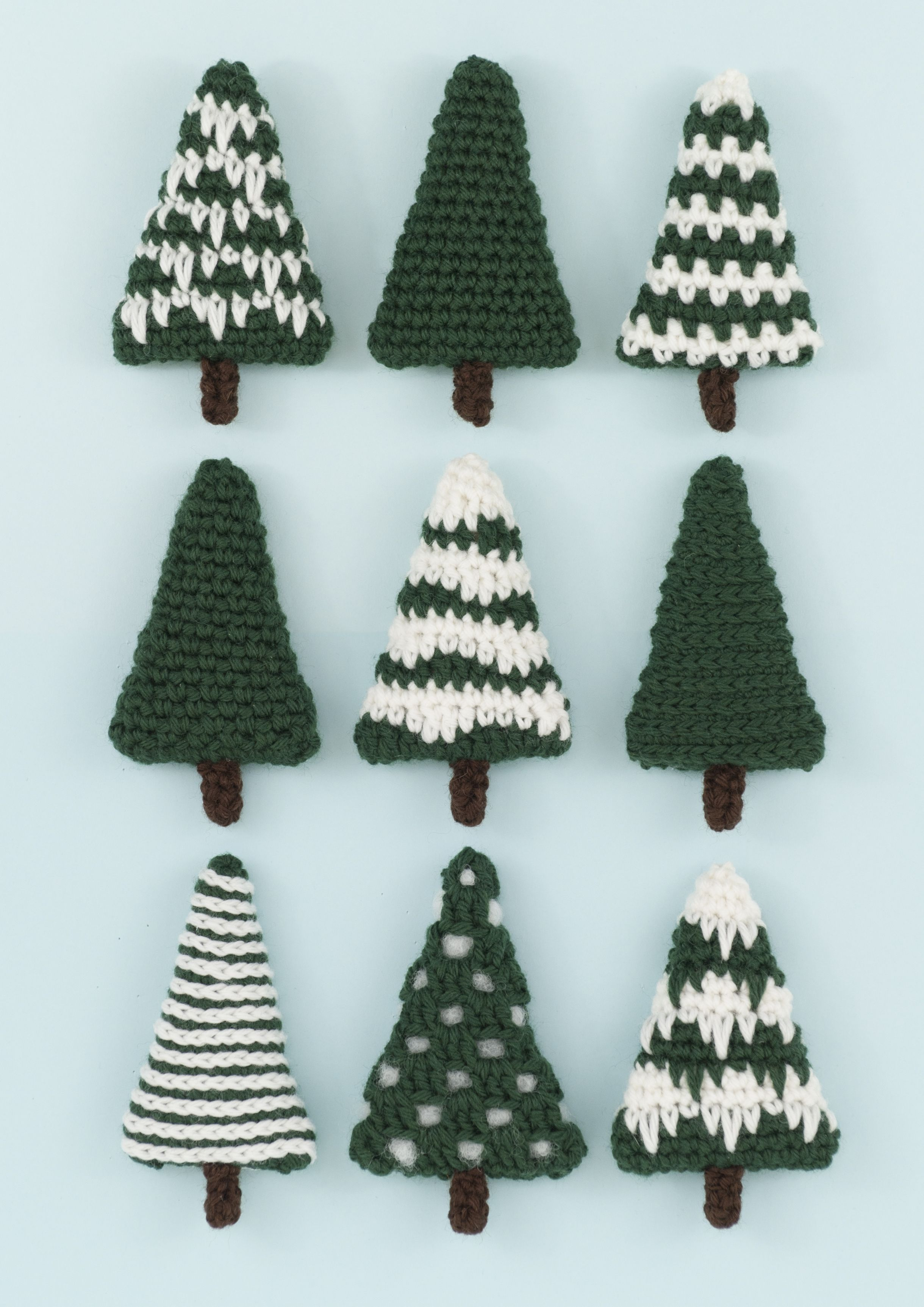 Christmas Trees Crochet Pattern By Squibblybups Crochet Christmas Trees Pattern Christmas Crochet Patterns Christmas Crochet