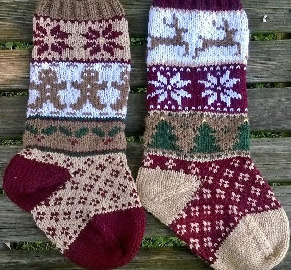 rustic christmas stockings pdf pattern fair isle by simplyserving