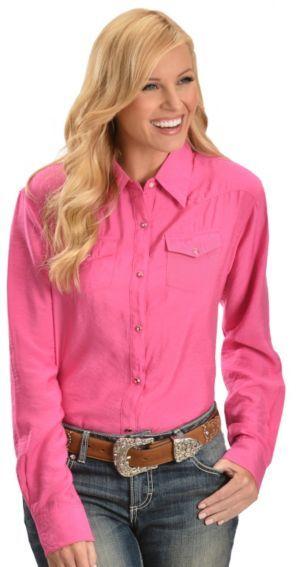 636ab625 Wrangler Tough Enough To Wear Pink Western Shirt - Sheplers | Think ...
