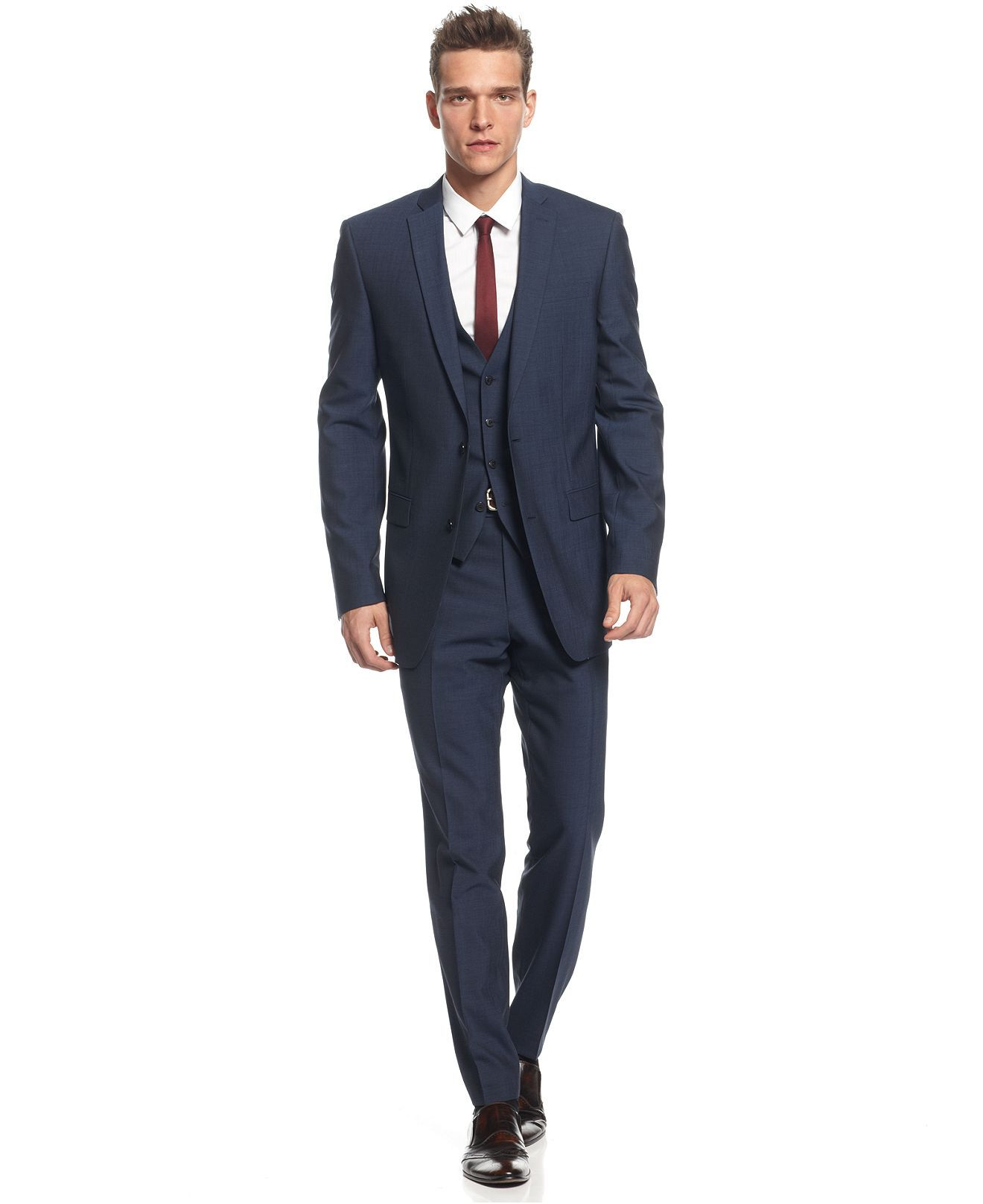 Bar III Suit Separates, Midnight Blue Slim Fit - Mens Suits & Suit ...