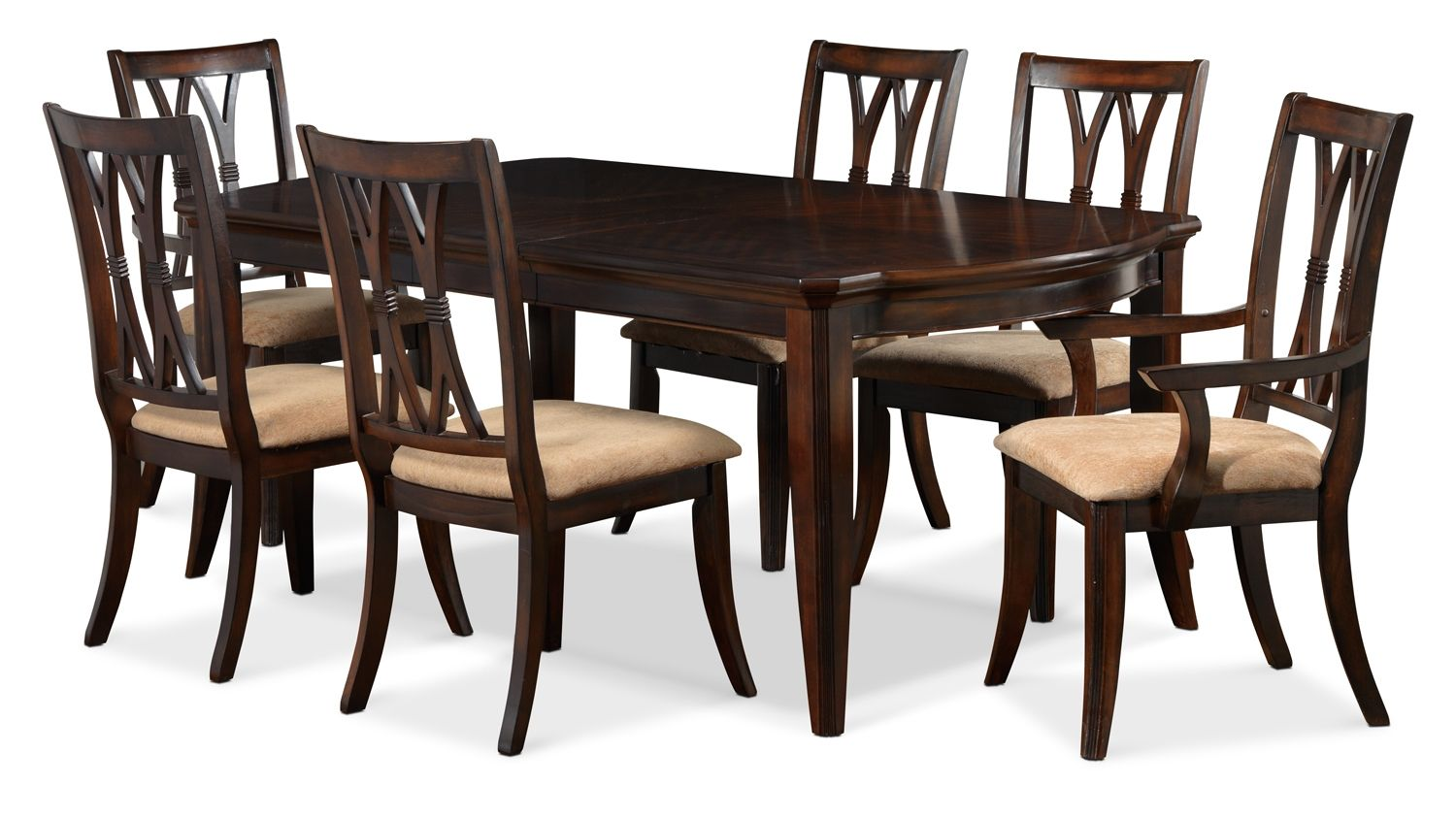 King george dining room 7 pc dining set leon 39 s - King furniture dining table ...