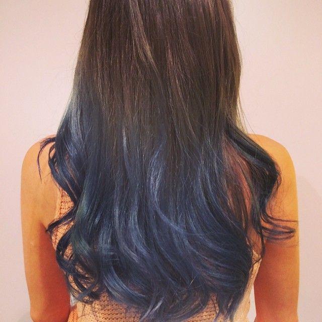 Instagram Hair Blue Ombre Hair Blue Hair