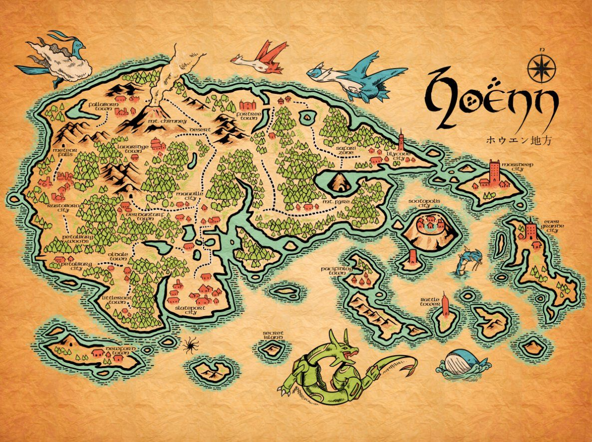 Pokemon map lotr style legendary places pinterest lotr pokemon map lotr style gumiabroncs Image collections