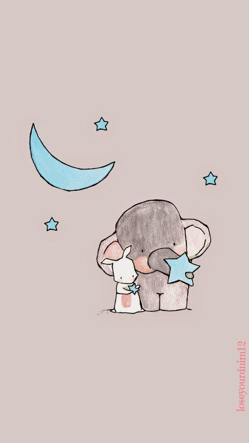 Imagem De Wallpaper Cute And Elephant Sevimli Duvar Kagitlari Iphone
