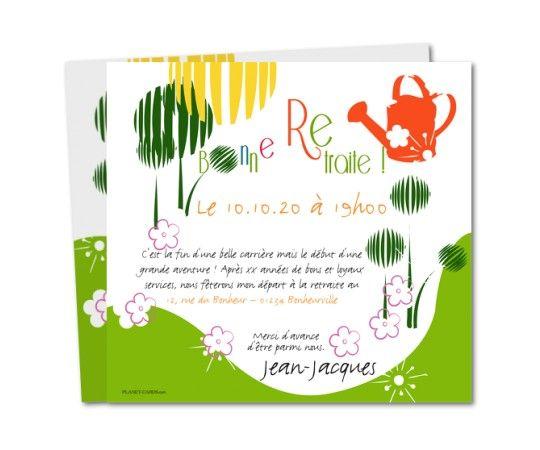 Extrêmement Invitation à fêter un départ en retraite | carte | Pinterest CR17