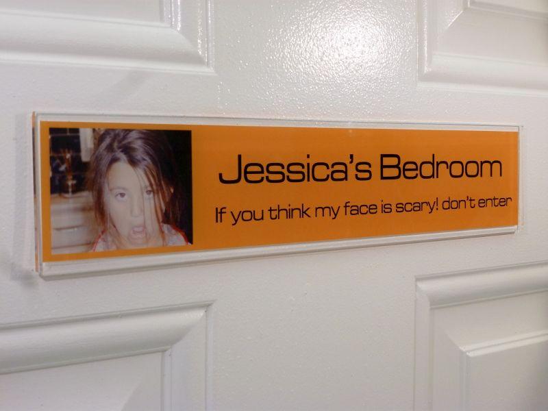 Funny Door Sign JESSICA make a  funny door sign for your kid  show off. Funny Door Sign JESSICA make a  funny door sign for your kid  show