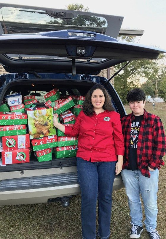 This past week, my son and I delivered shoeboxes from our