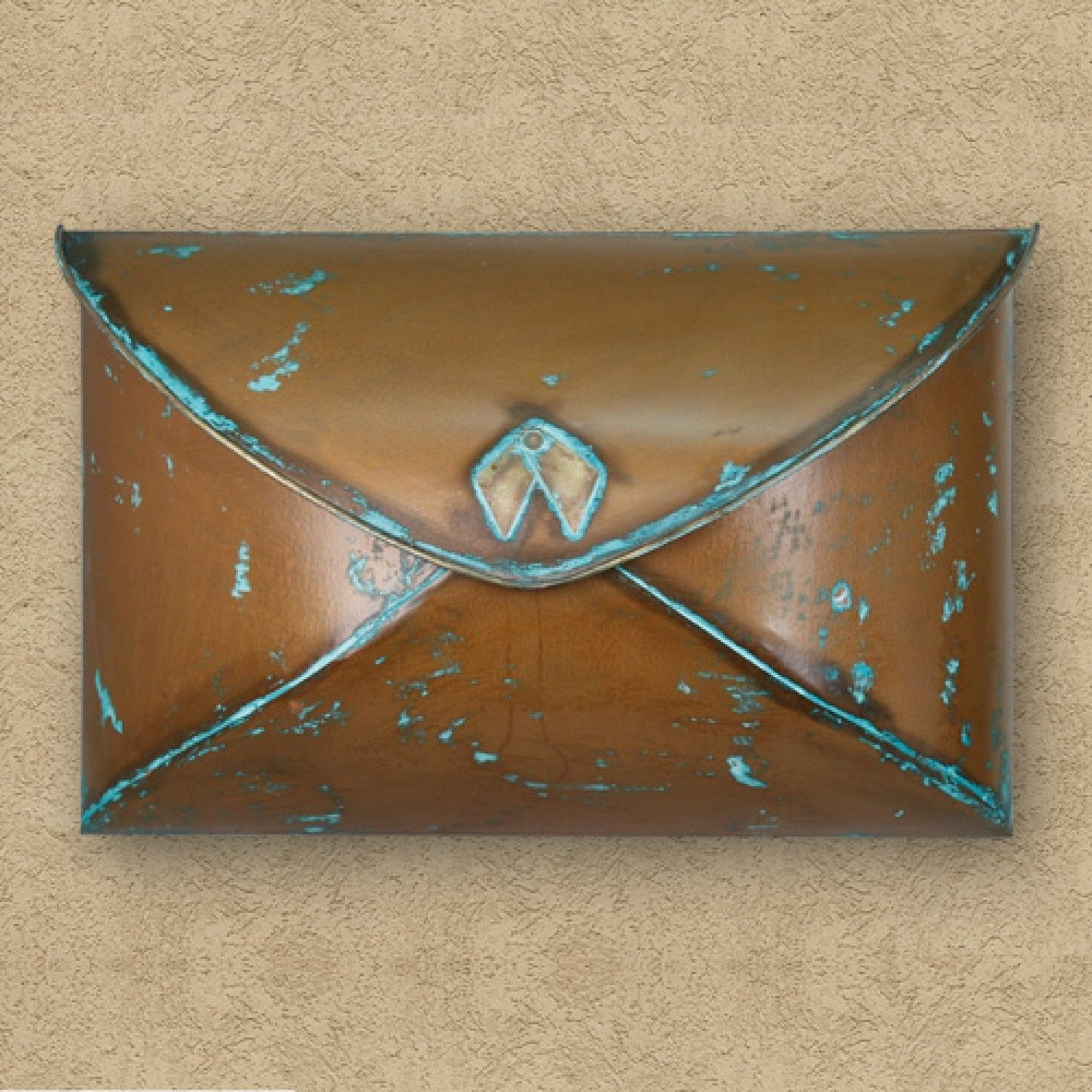 Envelope Wall Mount Mailbox Verde Copper Mailboxes and Slots