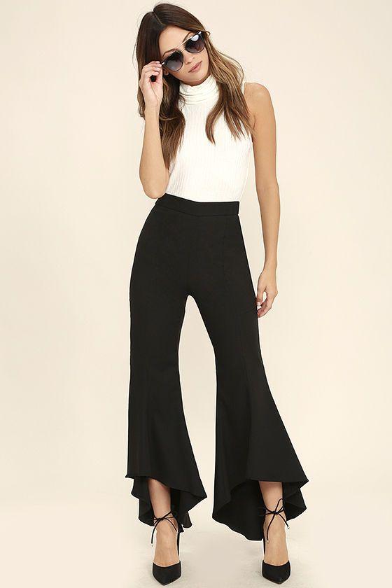 See the World Black Pants. Hem PantsFlare Leg ...