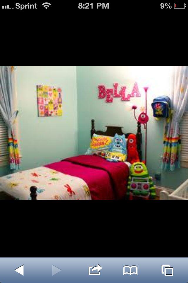 Love This Room Tayler's Big Girl Room Custom Yo Gabba Gabba Bedroom Decor