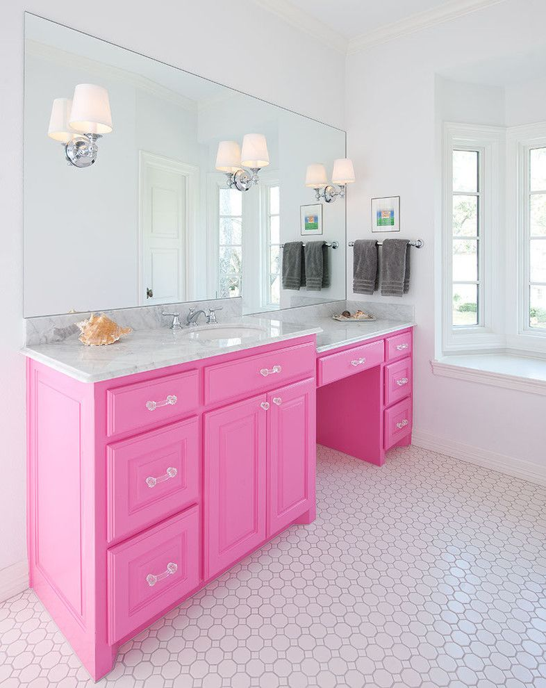 Girly Bathroom Ideas Fascinating Think Pink 5 Girly Bathroom Ideas  Girly Pink Vanity And Pink . Review