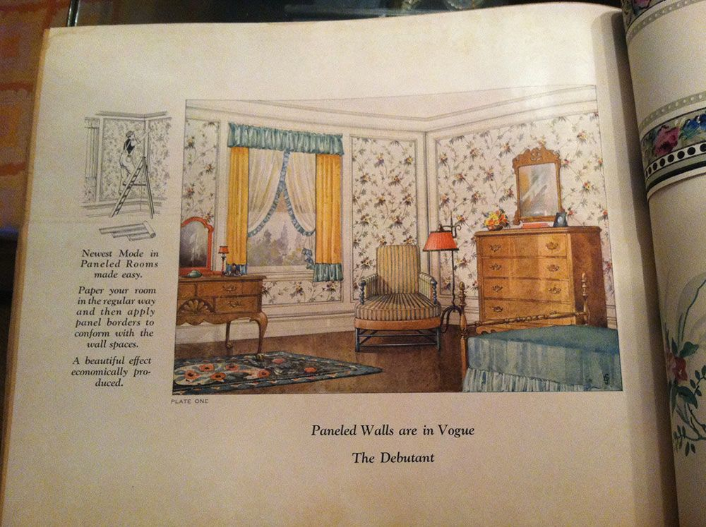Vintage Wallpaper Books From 1928