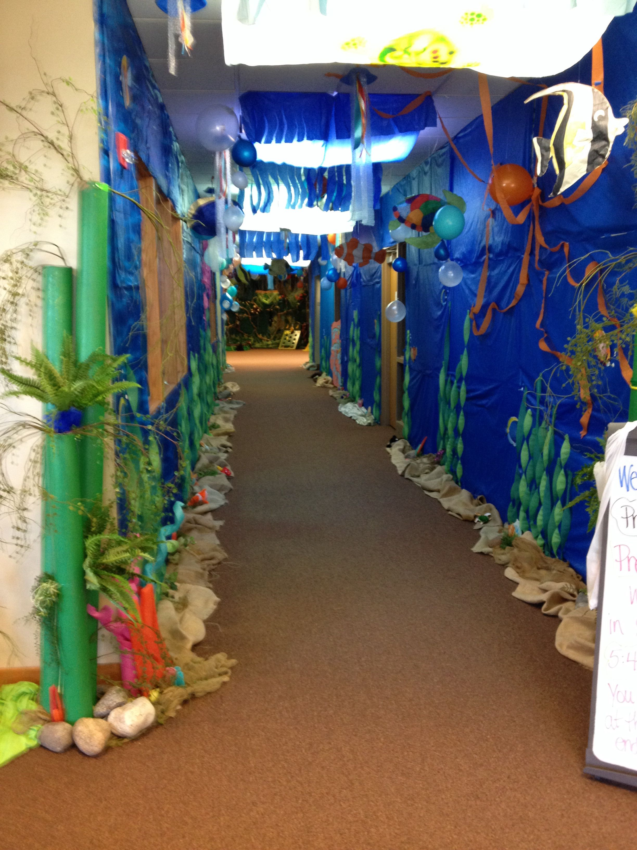 Underwater Ocean Hallway Dayschool Ideas Pinterest
