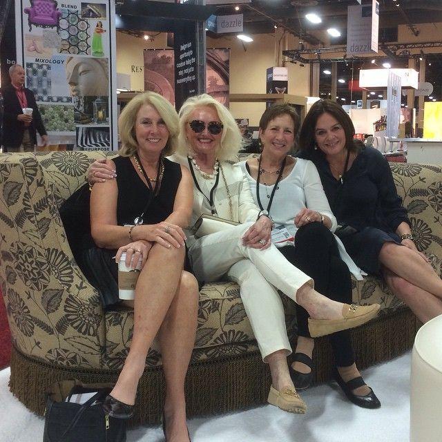 The lovely ladies of Samuelson @jojoschab @elizabethdonicht #GayNell #RuthChasolen @hdexpo #HDExpo2015 #hospitality #sales #design #interiors