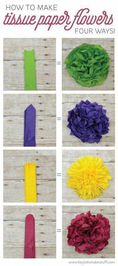 Tissue Flowers Diy Crafts Art Tissue Paper Flowers Paper