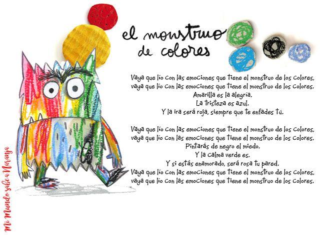 Mi Mundo sabe a Naranja: Canción El Monstruo de Colores | monstruo ...