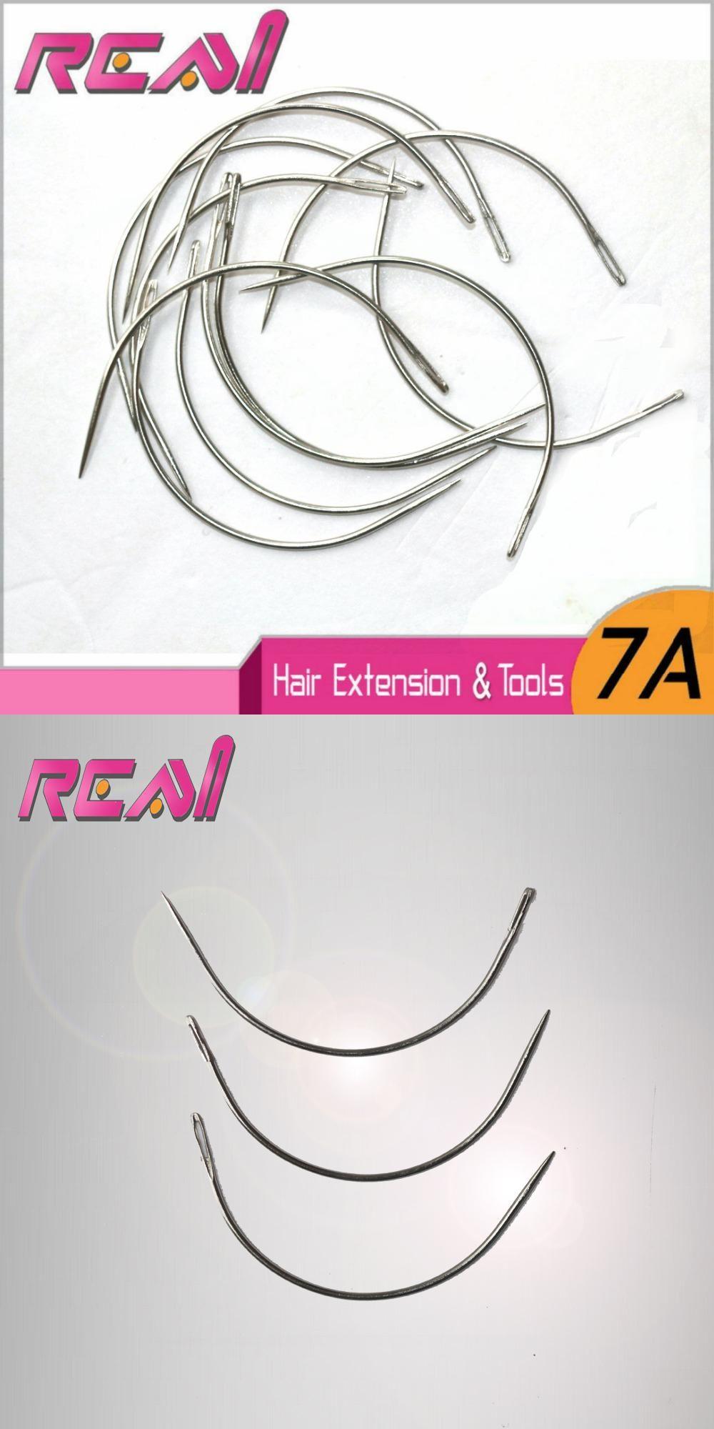 144pcs Hair Weaving Needle Hair Weft Needle Wefted Hair Needle