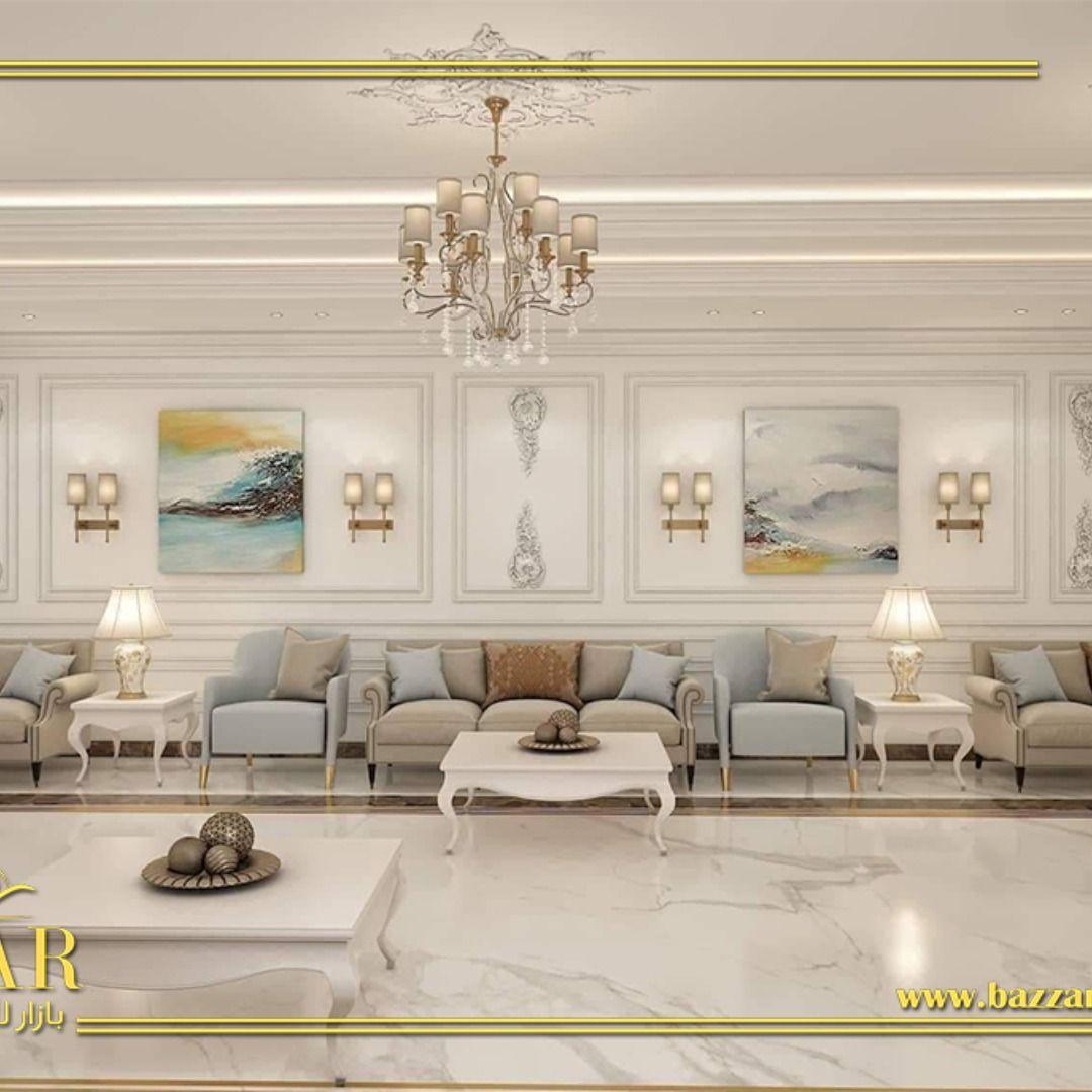 ديكور مجلس رجال نيوكلاسيك فخم ومميز اختار المصمم اللون الابيض لطلاء الجدران و تم تزيين الحوائط بالبانوهات مما اعطى مظهرا ملوكي للمجلس Decor Home Decor Room