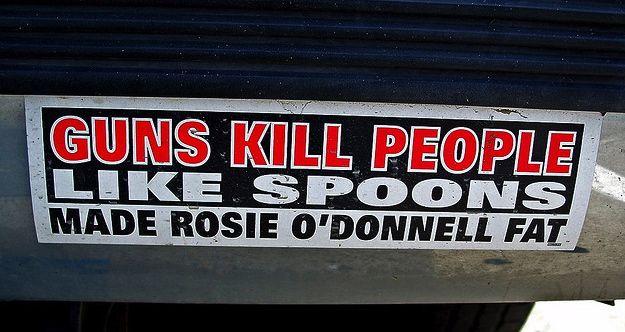 Funny gun bumper stickers