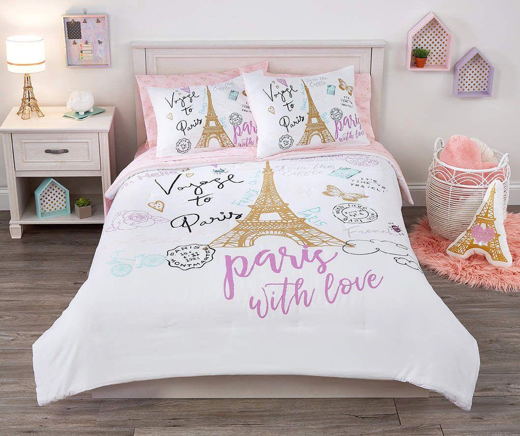 Dream Street White & Gold Paris Twin/Full 3Piece